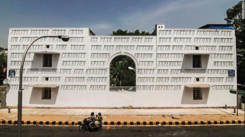 Typographic Building Murals