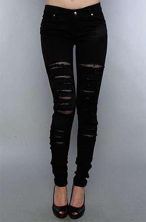 Built-In Fishnet Jeans