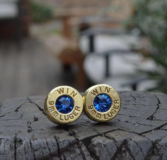 Gun Shell Jewelry Bullet Earrings