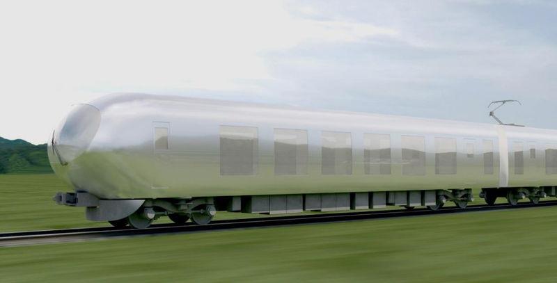 Nature-Blending Bullet Trains