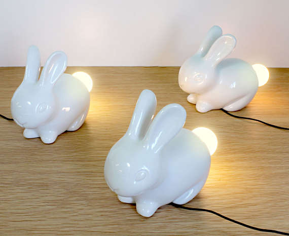 Porcelain Bunny Lights