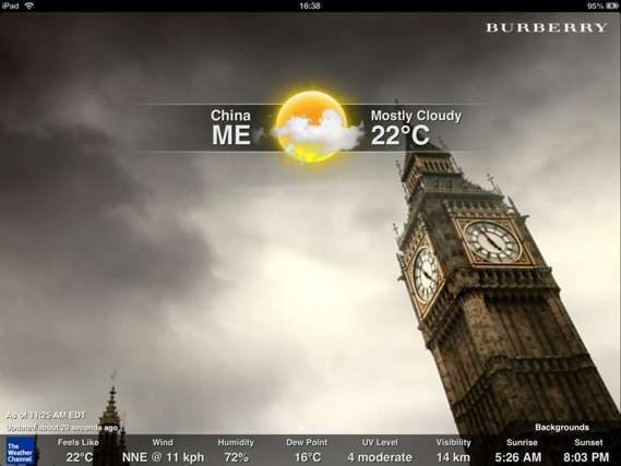 Burberry Digital Weather Billboards