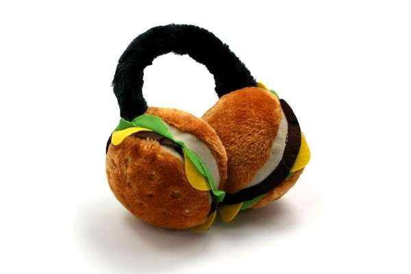Tasty Hamburger Ear Warmers