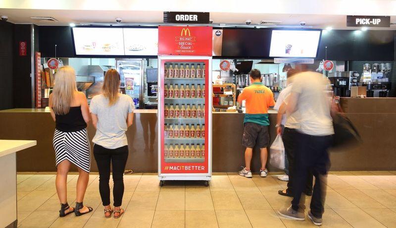 Burger Sauce Vending Machines
