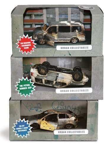 Burned and Smashed Toy Cars