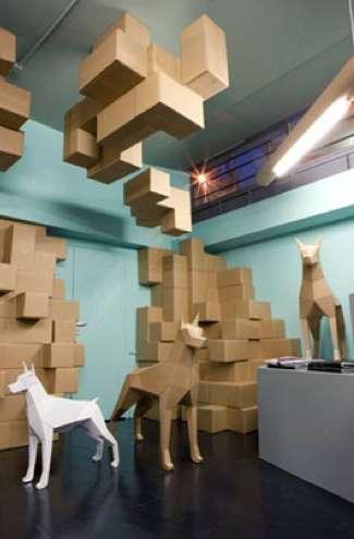 Cardboard Watchdogs