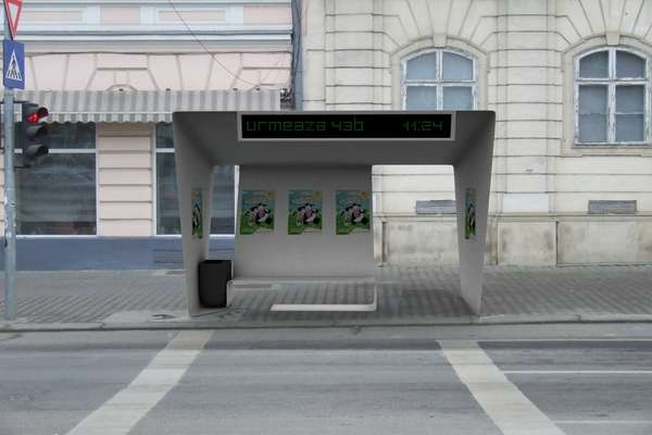 Bus Shelter by Simon George