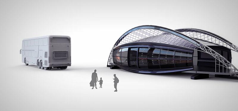 Futuristic Bus Stops