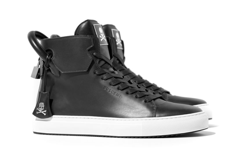Luxe Skull-Branded Sneakers