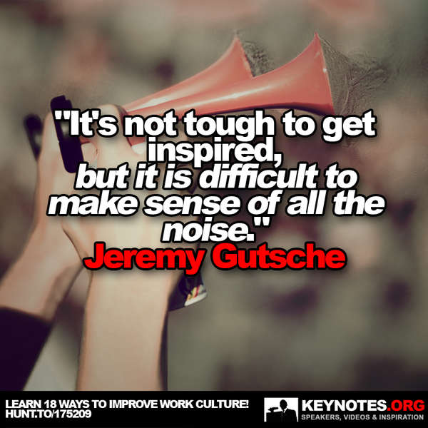 It's Not Tough to Get Inspired