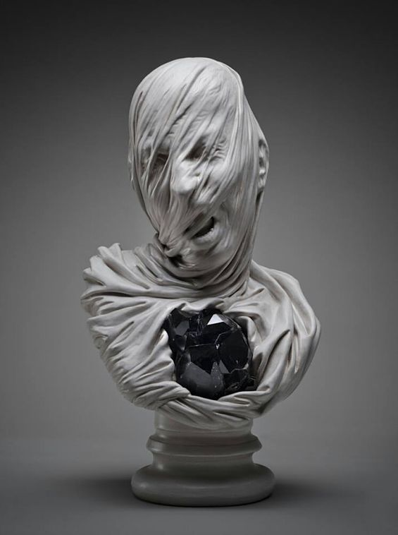 Ghostly Shrouded Sculptures
