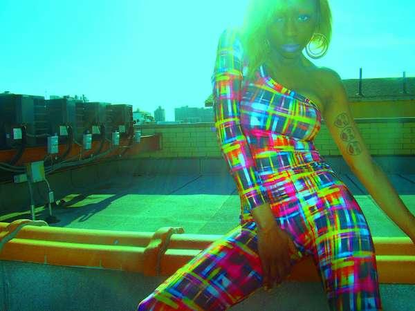 Busy Bright-Hued Fashions