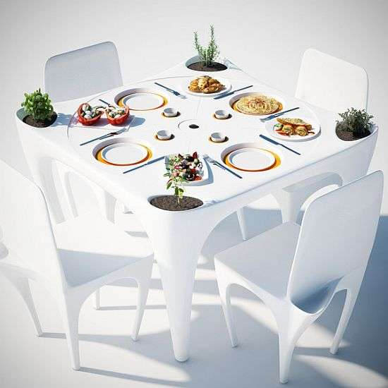 Dimpled Outdoor Dining Tables