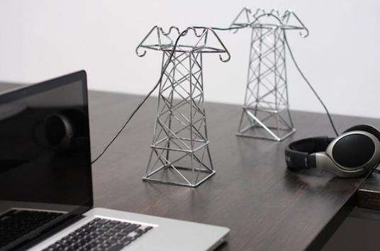 Transmission Tower Cord Holders