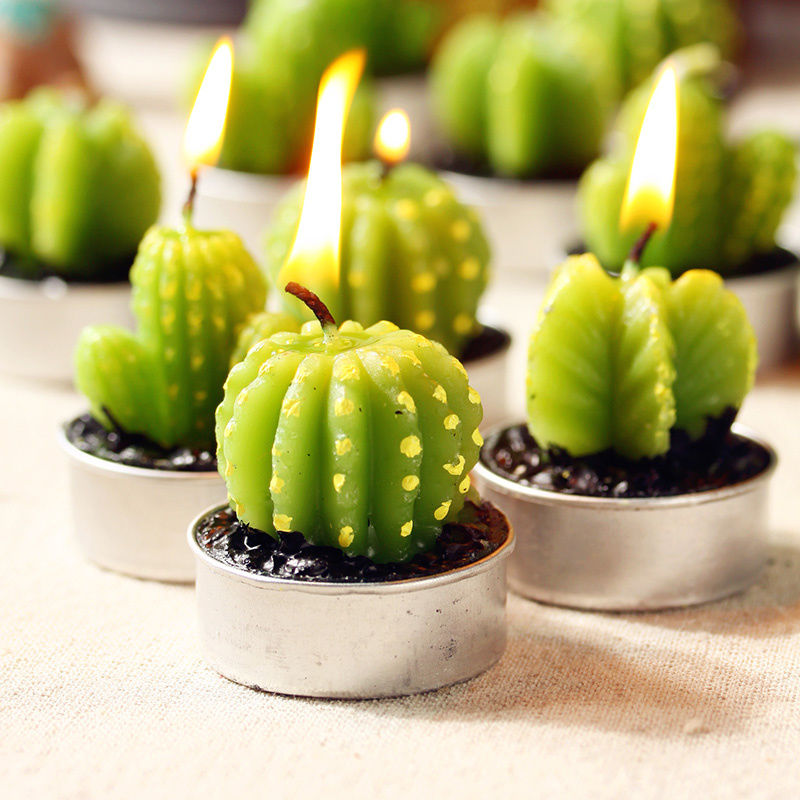 Cactus-Shaped Candles