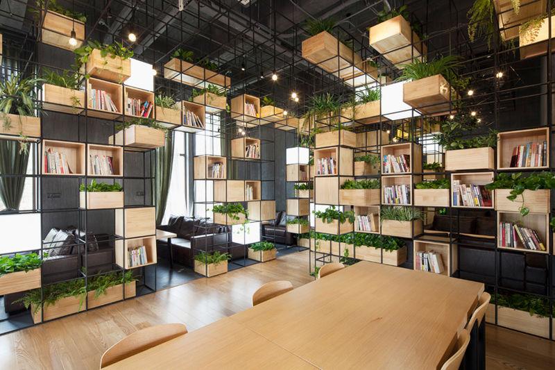 Steel Bar-Clad Cafes