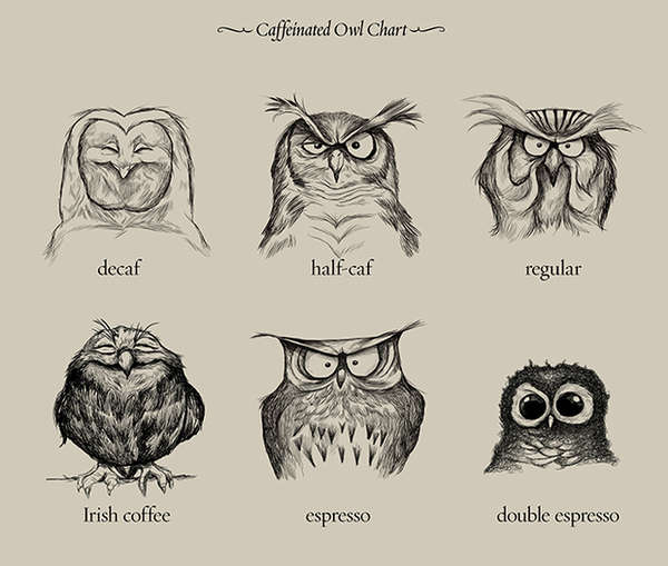 Caffeinated Owl Illustrations