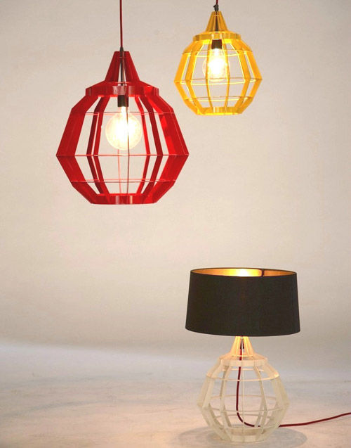 Colorful Cage Lighting