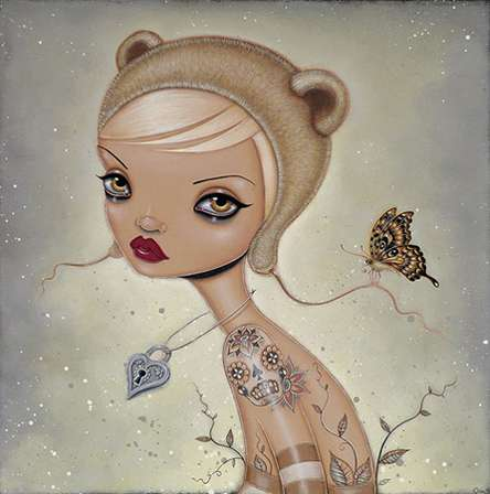 Doe-Eyed Cartoon Pin-Ups