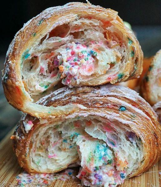 Birthday Cake Croissants : Cake Croissant