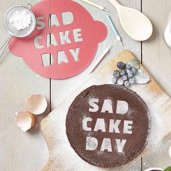 Comedic Sad Cake Stencils