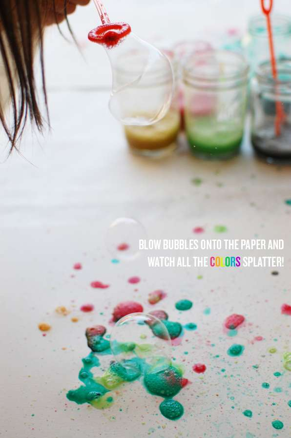 DIY Bubble Art Paintings
