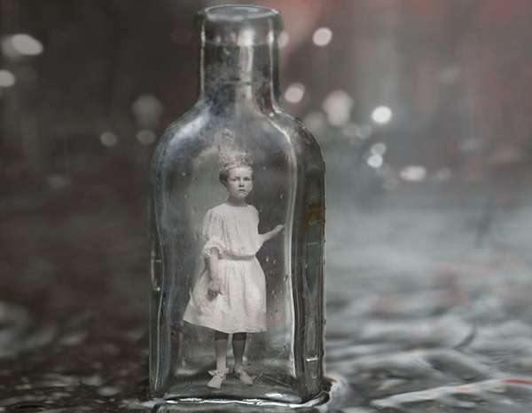 Ghostly Bottled Figures