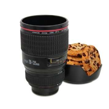 Photography inspired coffee mugs camera lens coffee for Photo lens coffee cup