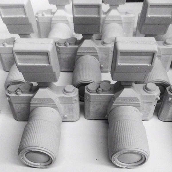Sandy Camera Sculptures