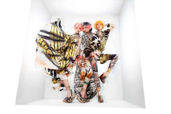 Top-to-Toe Printed Fashion
