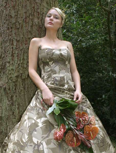 military camo wedding dresses