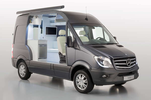 Luxury camping vans camp in your van for Mercedes benz camper van