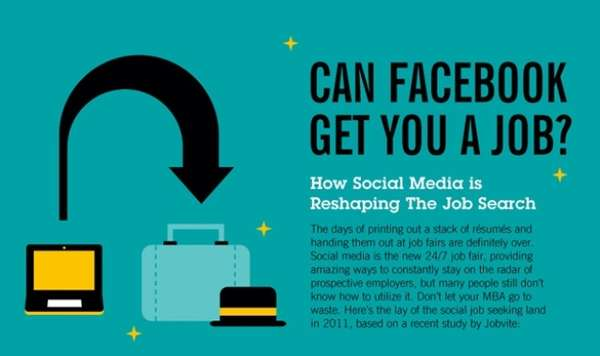 Can Facebook Get You a Job? Infographic