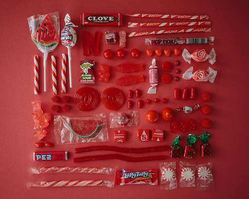 Color-Coded Candy Photos