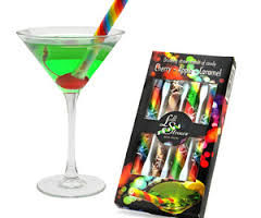 Sugary Rainbow Straws