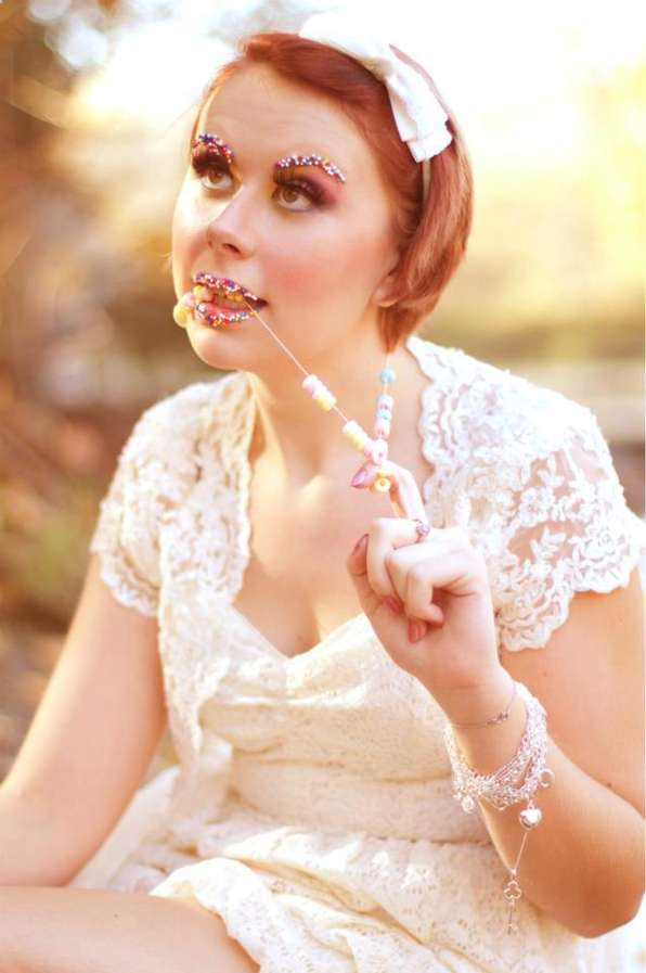 Whimsical Candy Cosmetic Photography