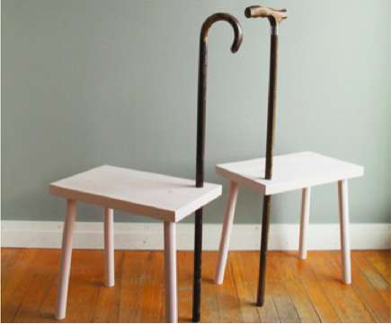 staff supported stools cane able. Black Bedroom Furniture Sets. Home Design Ideas