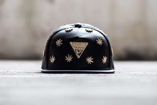 Studded Cannabis Snapback Couture