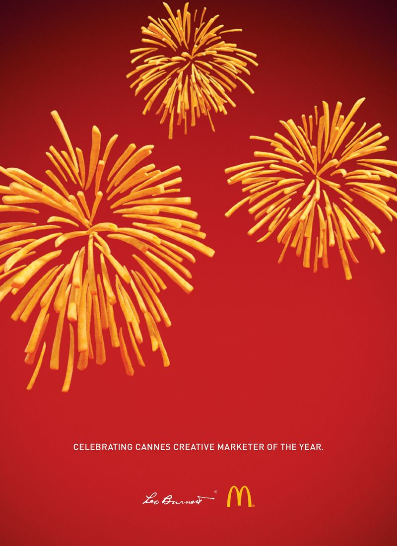 French Fry Firework Ads