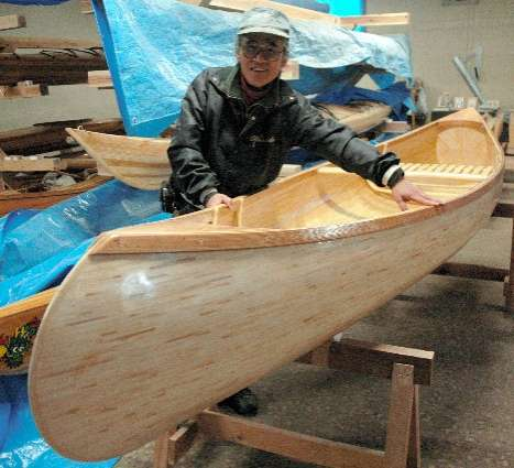 Canoe Made of 7,382 Chopsticks