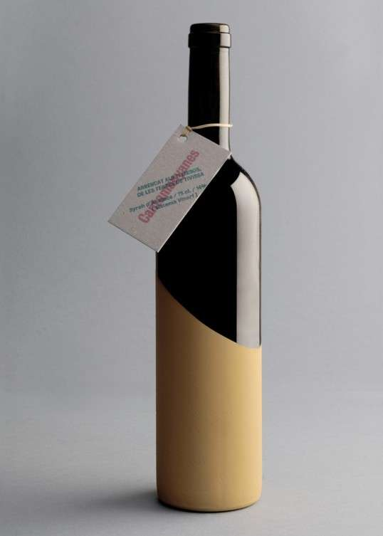 Dirt-Dipped Vino Bottles