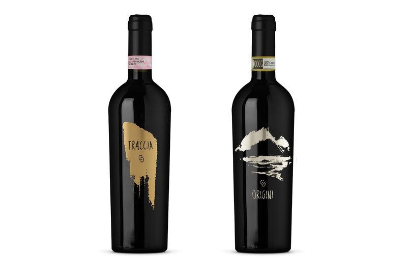 Metallic Wine Logos
