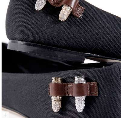 Bullet-Covered Ballet Shoes