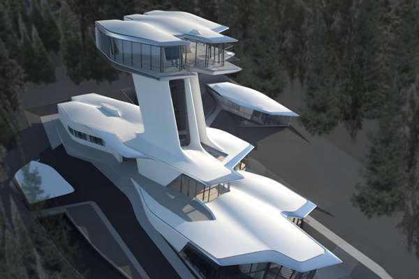 Spaceship-Resembling Homes