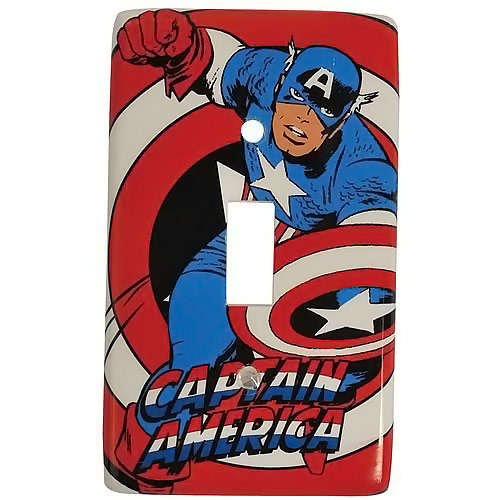 Captain America Light Switch Plate