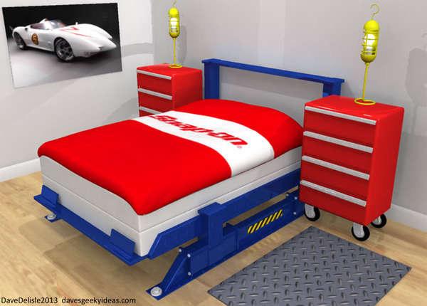 auto mechanic bedroom sets car bedroom set. Black Bedroom Furniture Sets. Home Design Ideas