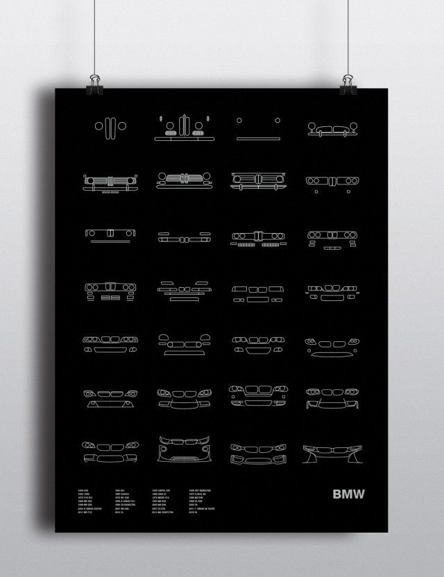 Minimalist Car Brand Illustrations