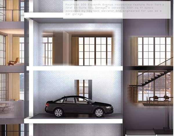 Luxury Condo Car Elevators En Suite Sky Garage 39 Featured
