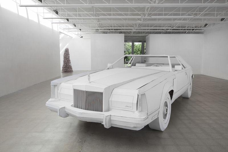Cardboard Car Sculptures