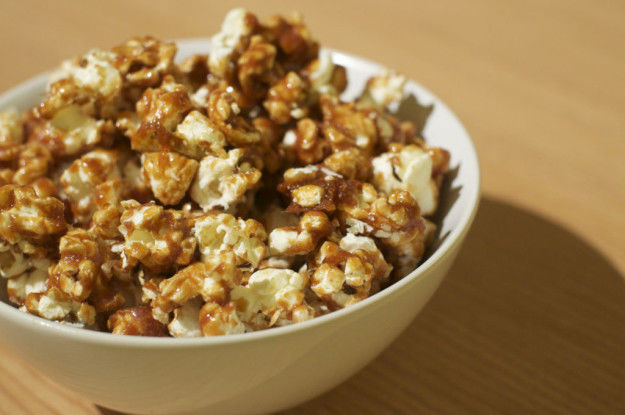 Tea-Infused Caramel Popcorn